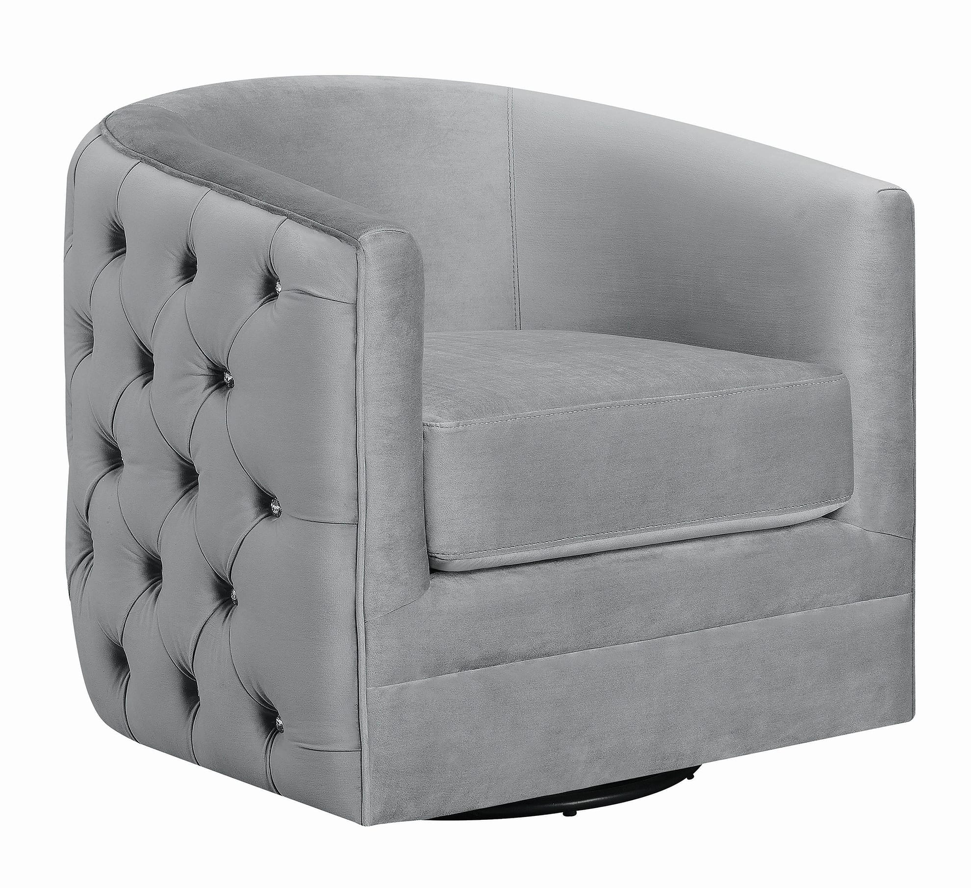 Modern Grey Swivel Accent Chair   Quality Furniture At Throughout Swivel Sofa Chairs (View 7 of 15)