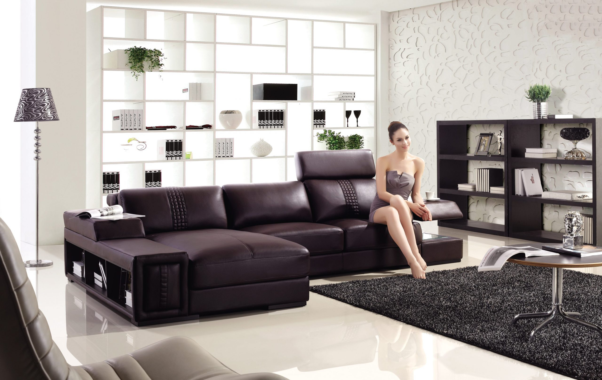 Modern L Shape Sofa – Joy Furniture Intended For Lounge Sofas And Chairs (View 9 of 15)
