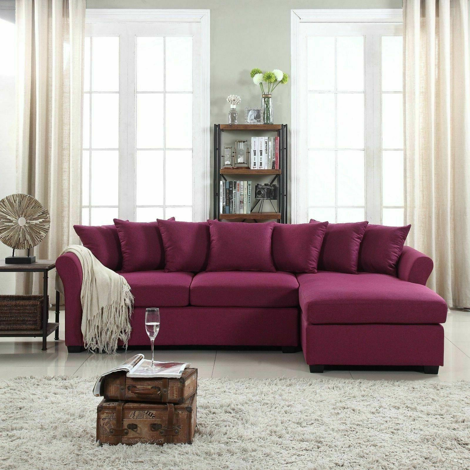 Modern Large Linen Sectional Sofa With Extra Wide Intended For Extra Large Sectional Sofas (View 1 of 15)