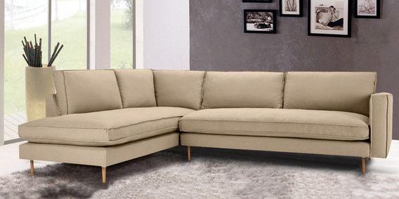 Modular Rhs Three Seater Sofa With Lounger In Beige Colour Regarding Dream Navy 3 Piece Modular Sofas (View 9 of 15)