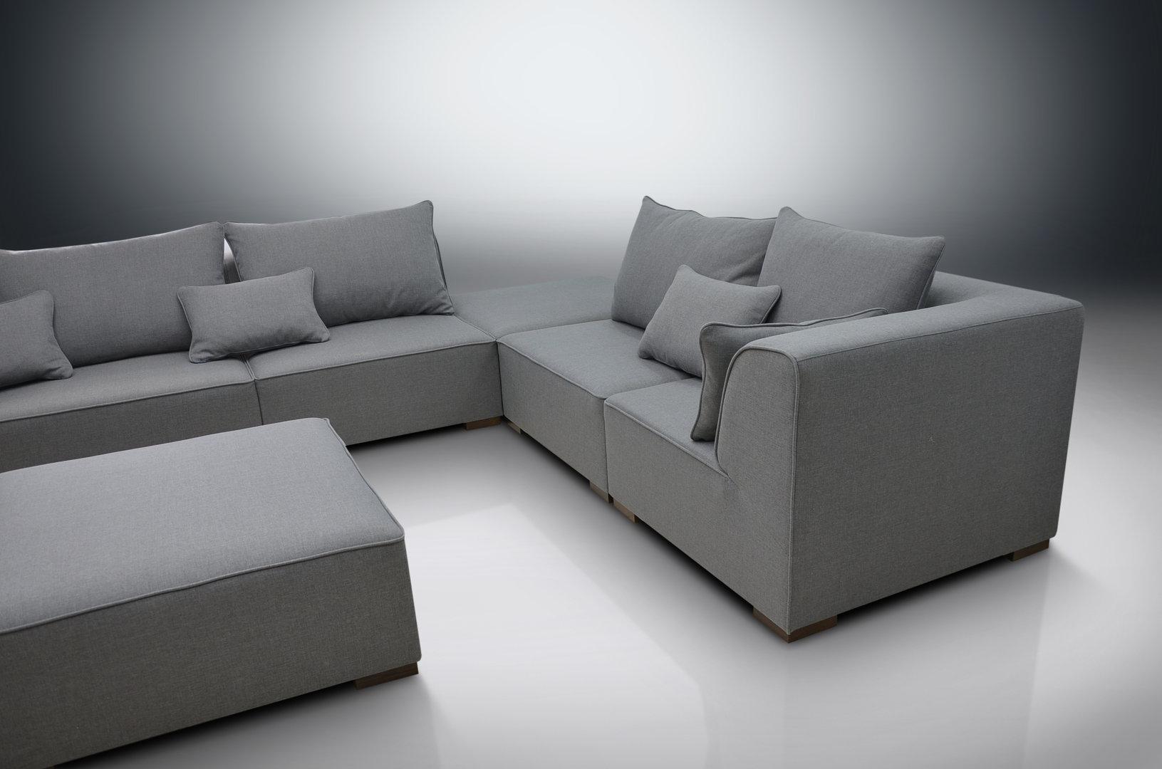 Modular Sofa Primo, 2Xcorners, 3Xchairs, 2Xfootstools Inside Dream Navy 3 Piece Modular Sofas (View 12 of 15)