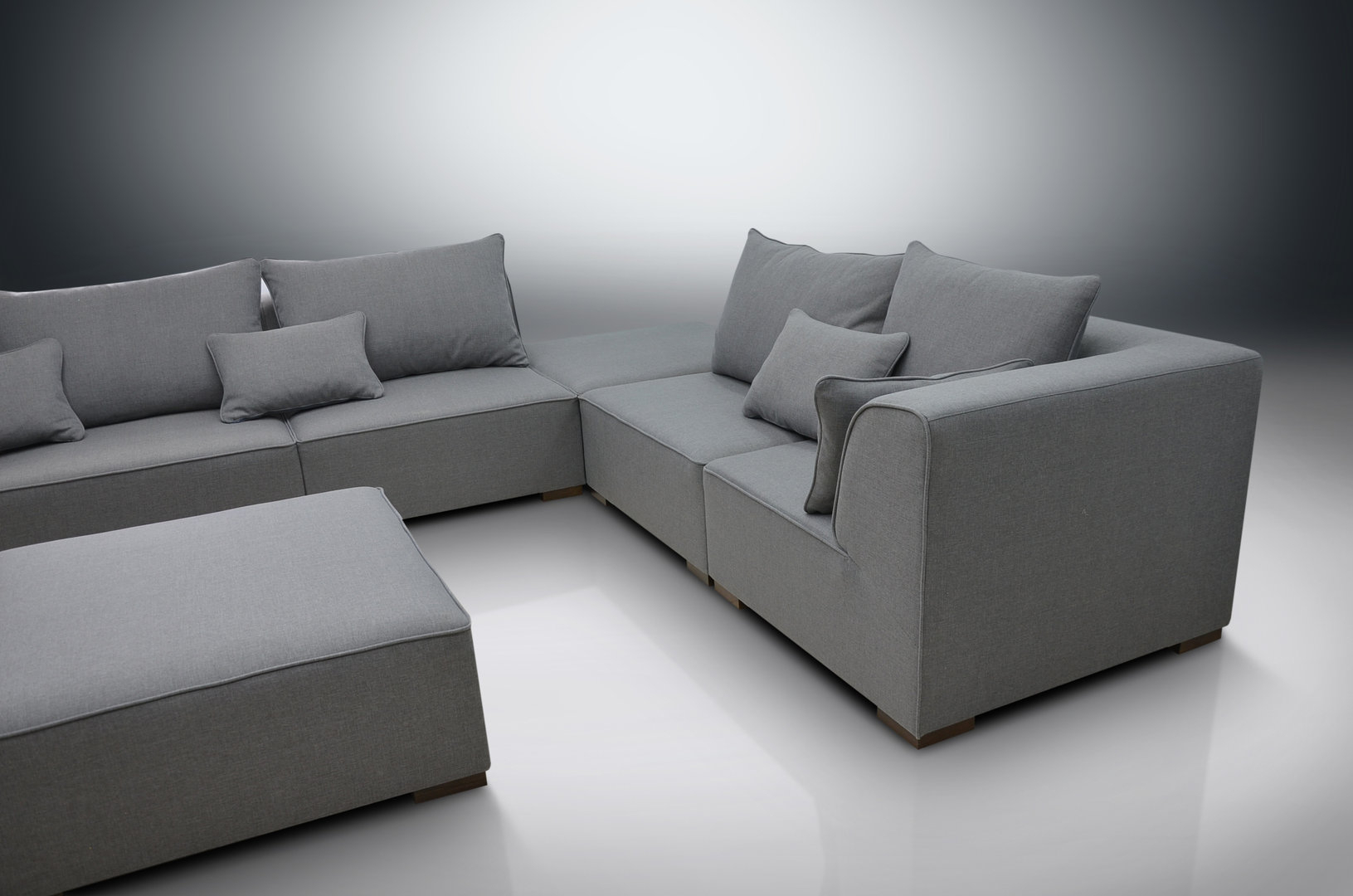 Modular Sofa Primo, 2Xcorners, 3Xchairs, 2Xfootstools With Dream Navy 2 Piece Modular Sofas (View 8 of 15)