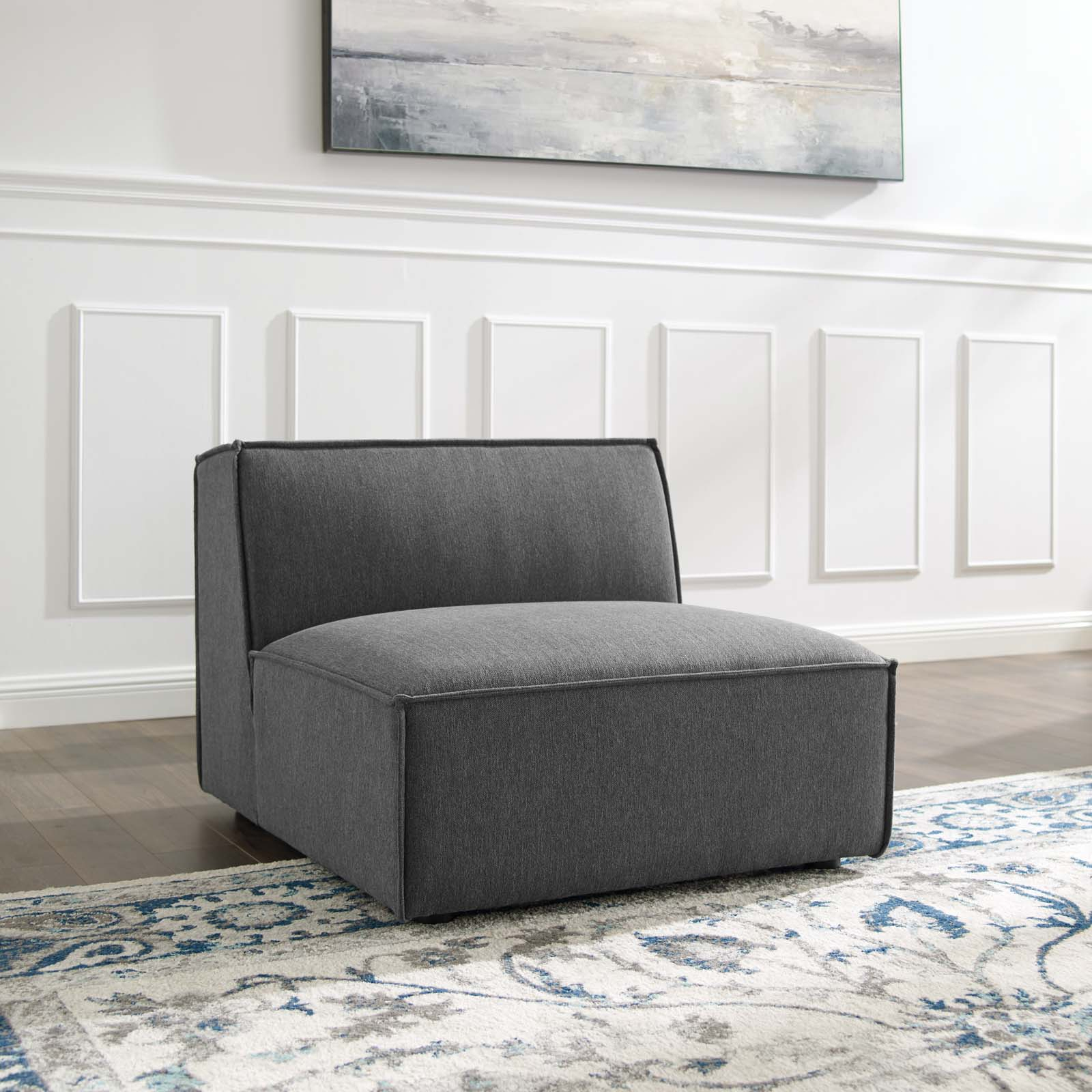 Modway Restore Sectional Sofa Armless Chair, Multiple Pertaining To Armless Sectional Sofas (View 1 of 15)