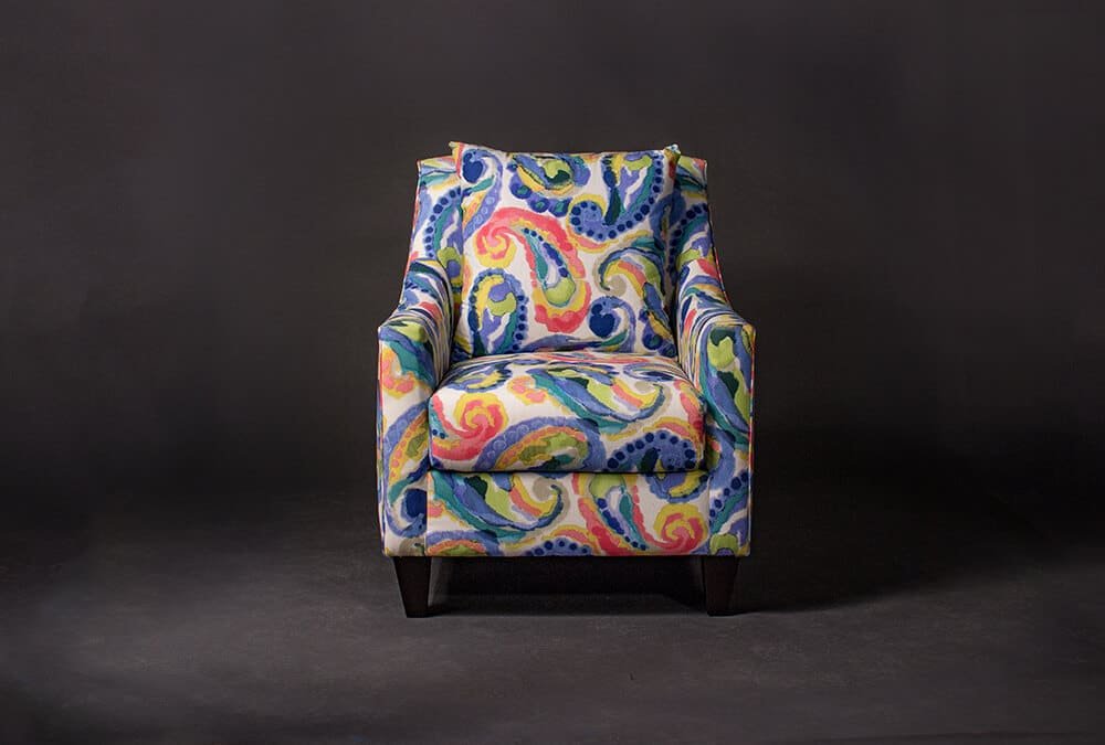 Morgan Colorful Print Accent Chair   Living Designs Furniture In Colorful Sofas And Chairs (View 11 of 15)