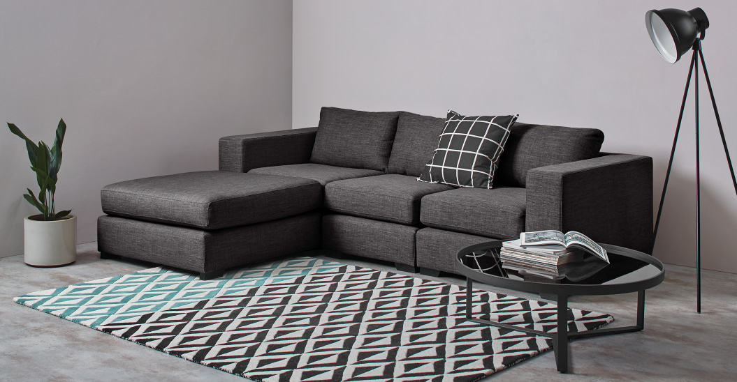 Mortimer 4 Seater Modular Corner Sofa, Seal Grey   Made Pertaining To Modular Corner Sofas (View 8 of 15)