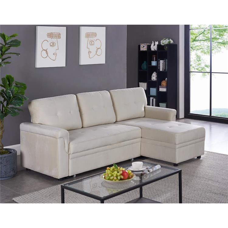 Naomi Home Laura Reversible Sleeper Sectional Sofa Storage Intended For Copenhagen Reversible Small Space Sectional Sofas With Storage (View 11 of 15)