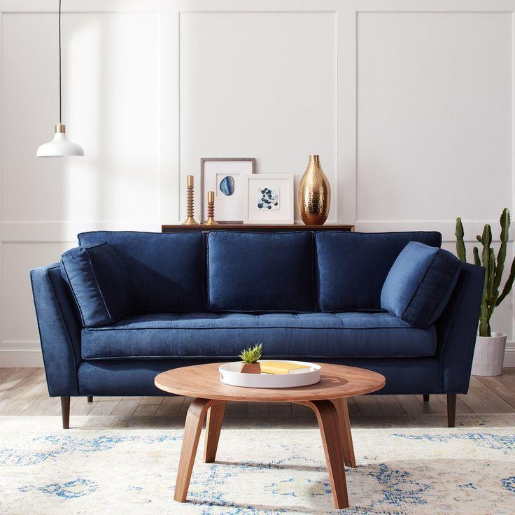 Navy Blue Sofa Best 25 Navy Blue Sofa Ideas On Pinterest Regarding Dove Mid Century Sectional Sofas Dark Blue (View 5 of 15)
