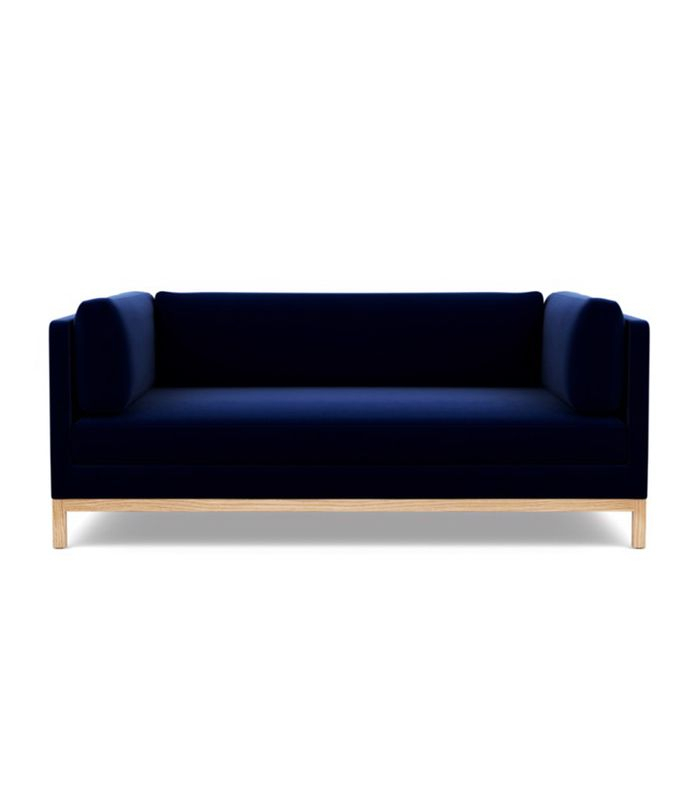 Navy Blue Sofa Blue Sofas With Ocean Navy Sky Sofa Work Intended For Annette Navy Sofas (View 12 of 15)