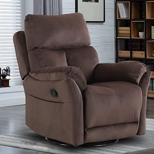 New Canmov Swivel Rocker Recliner Chair, Manual Reclining Within Forte Gray Power Reclining Sofas (View 12 of 15)