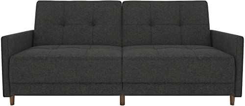 New Dhp Andora Coil Futon Sofa Bed Couch With Mid Century For Debbie Coil Sectional Futon Sofas (View 1 of 15)