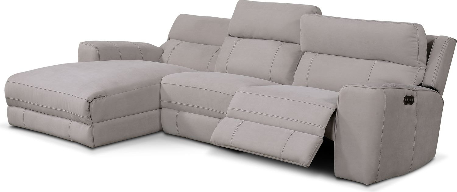 Newport 3 Piece Power Reclining Sectional With Left Facing Regarding Copenhagen Reclining Sectional Sofas With Left Storage Chaise (View 15 of 15)