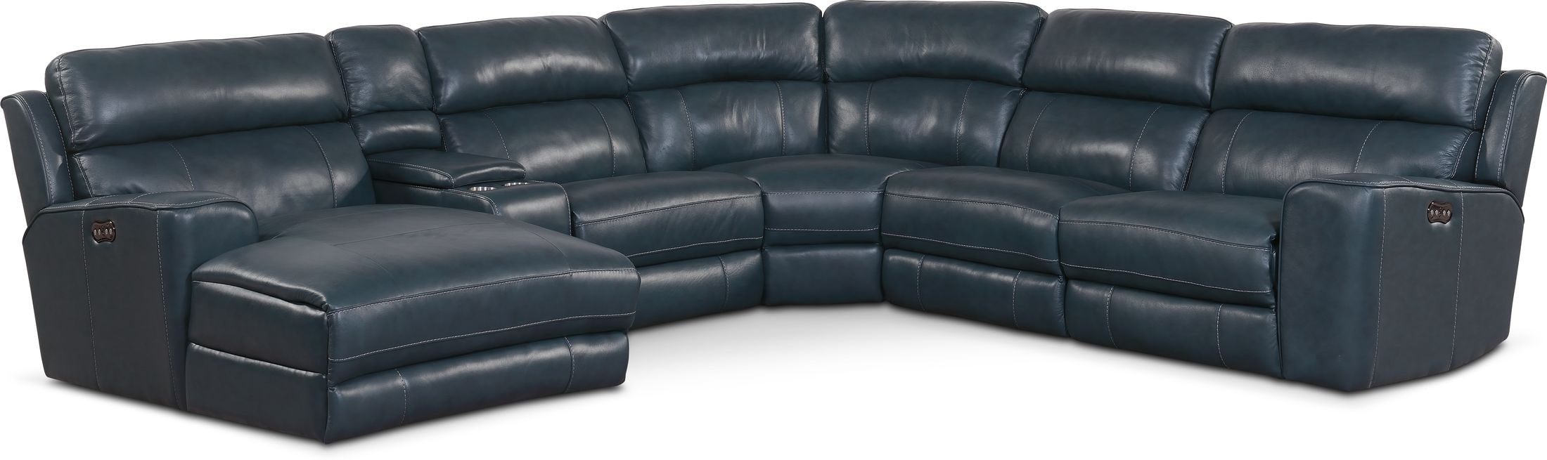 Newport 6 Piece Dual Power Reclining Sectional With Chaise For Forte Gray Power Reclining Sofas (View 9 of 15)