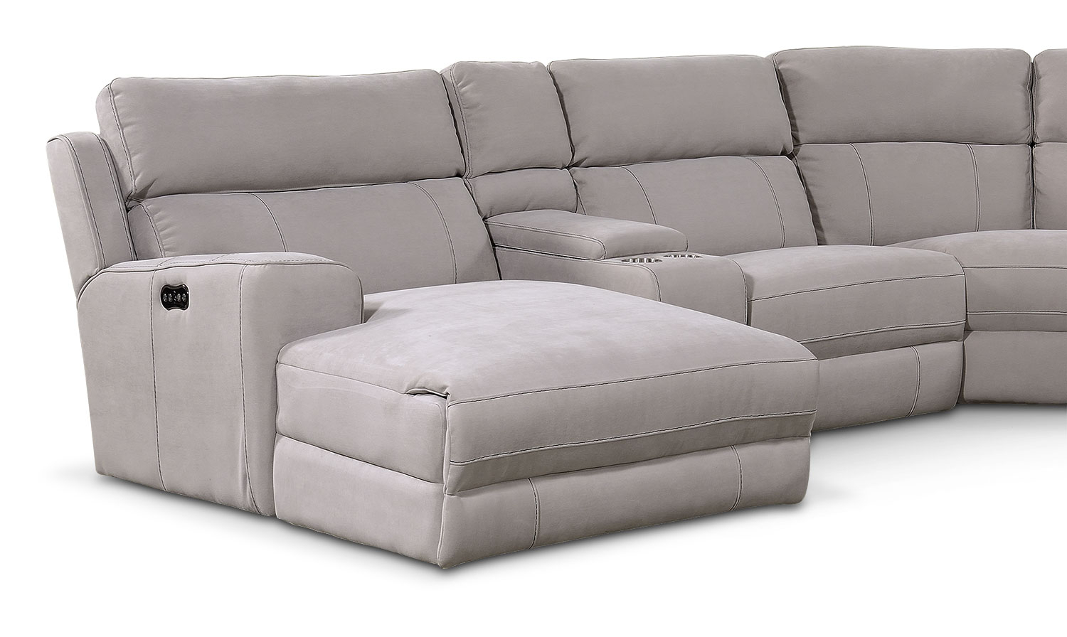 Newport 6 Piece Power Reclining Sectional With Left Facing With Regard To Copenhagen Reclining Sectional Sofas With Left Storage Chaise (View 9 of 15)