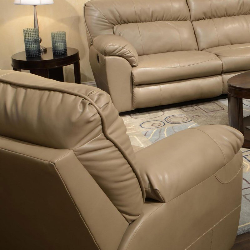 Nolan Power Extra Wide Cuddler Recliner (Putty) Catnapper Pertaining To Nolan Leather Power Reclining Sofas (View 9 of 15)