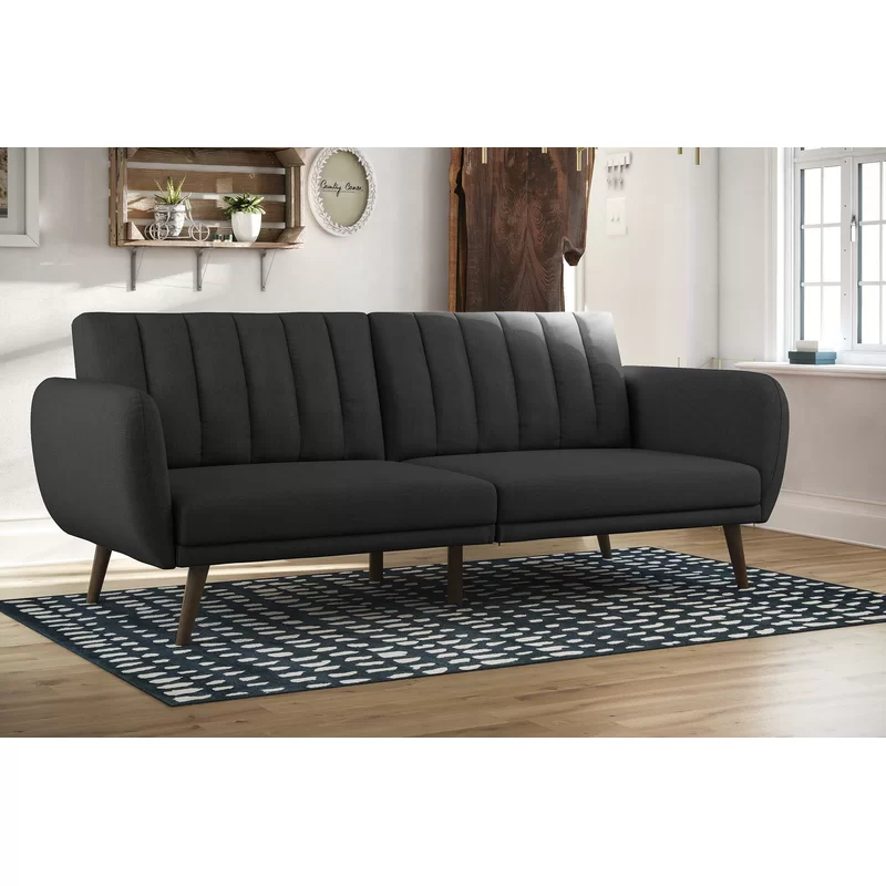 Novogratz Brittany Convertible Sofa & Reviews | Allmodern In Brittany Sectional Futon Sofas (View 10 of 15)
