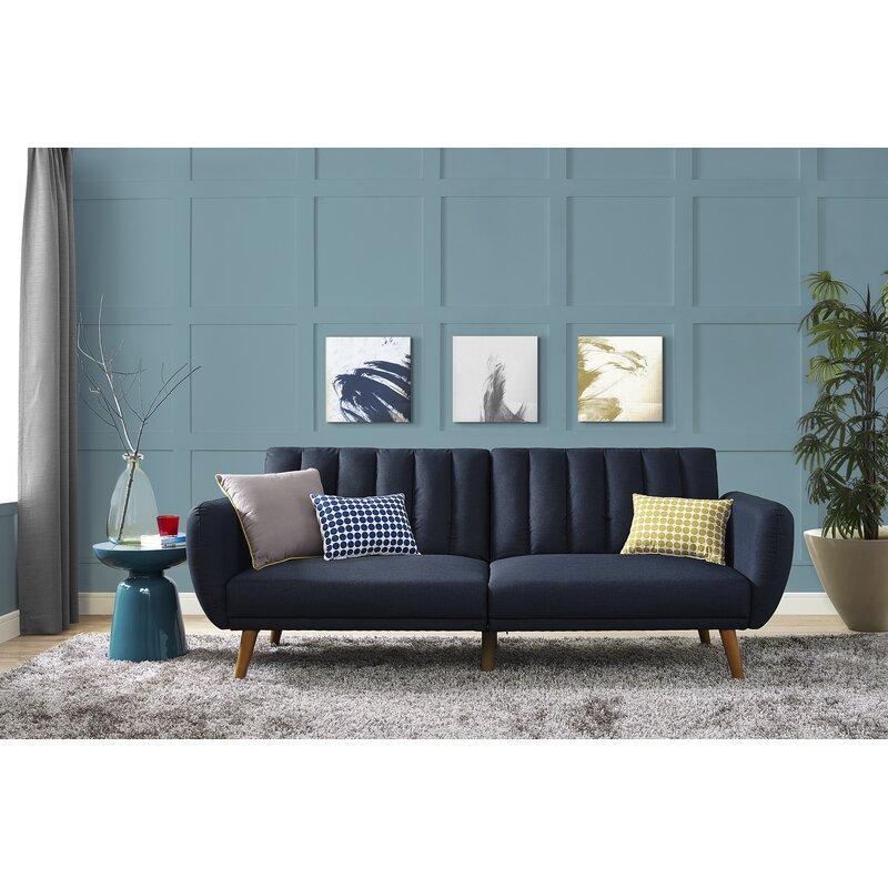 Novogratz Brittany Convertible Sofa & Reviews | Wayfair Pertaining To Brittany Sectional Futon Sofas (View 13 of 15)