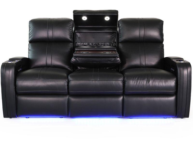 Octane Seating Flash Hr Power Reclining Sofa With Middle With Raven Power Reclining Sofas (View 14 of 15)