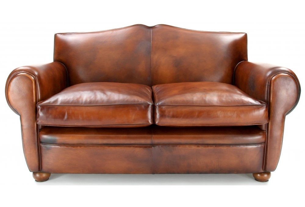 Old Lace   Original Leather Small 2 Seater Sofa From Old For Small 2 Seater Sofas (View 7 of 15)