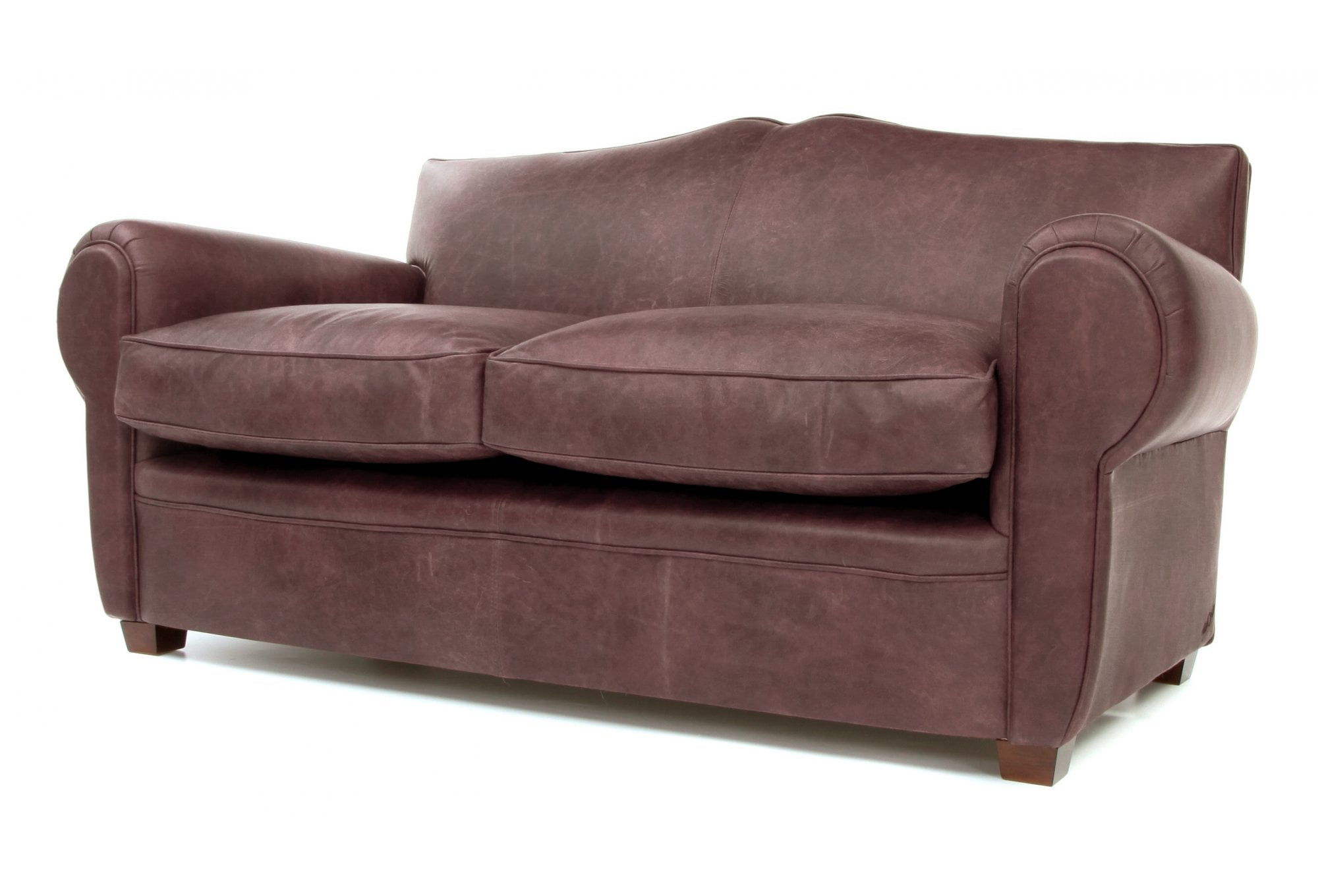 Old Lace | Vintage Leather Small 2 Seater Sofa From Old Within Two Seater Sofas (View 6 of 15)