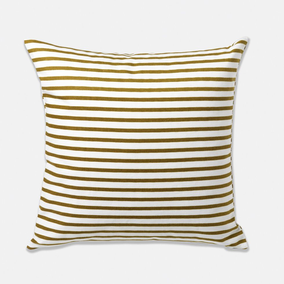 Olive Striped Pillow $48   Pillows, Modern Pillows, Modern With 4Pc French Seamed Sectional Sofas Oblong Mustard (View 11 of 15)
