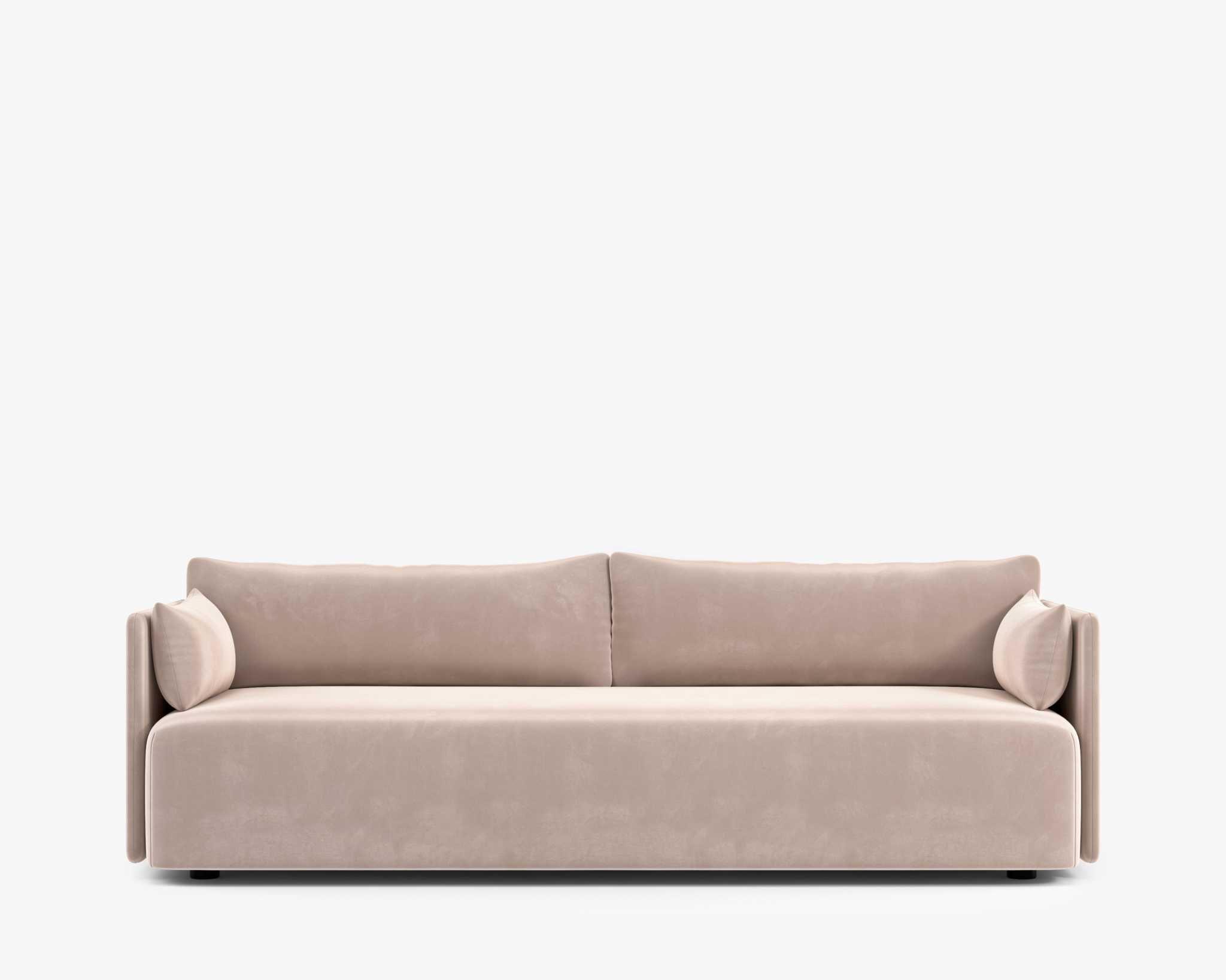 Olsen Sofa – Plush Velvet – Blush   Rove Concepts, Sofa In Annette Navy Sofas (View 5 of 15)