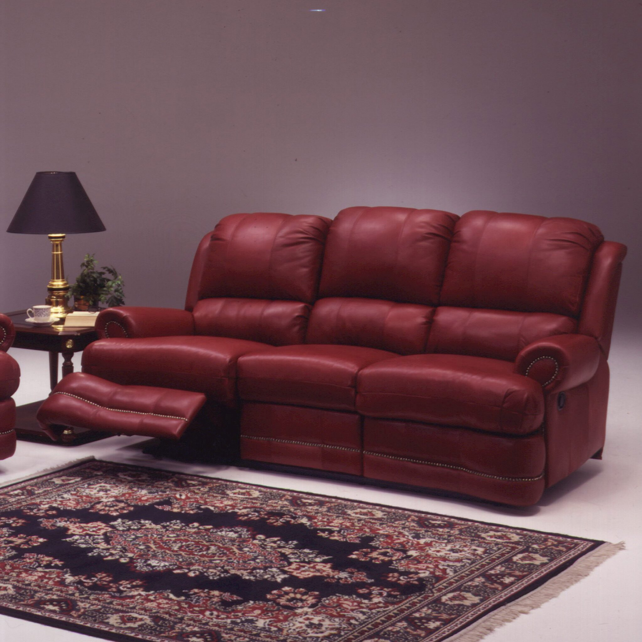 Omnia Leather Morgan 4 Seat Sofa Leather Living Room Set Throughout 4 Seat Leather Sofas (View 6 of 15)