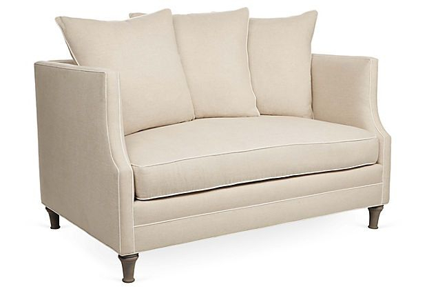 """One Kings Lane – The Relaxed Resort – Thompson 56"""" Sofa Throughout Harmon Roll Arm Sectional Sofas (View 12 of 15)"""
