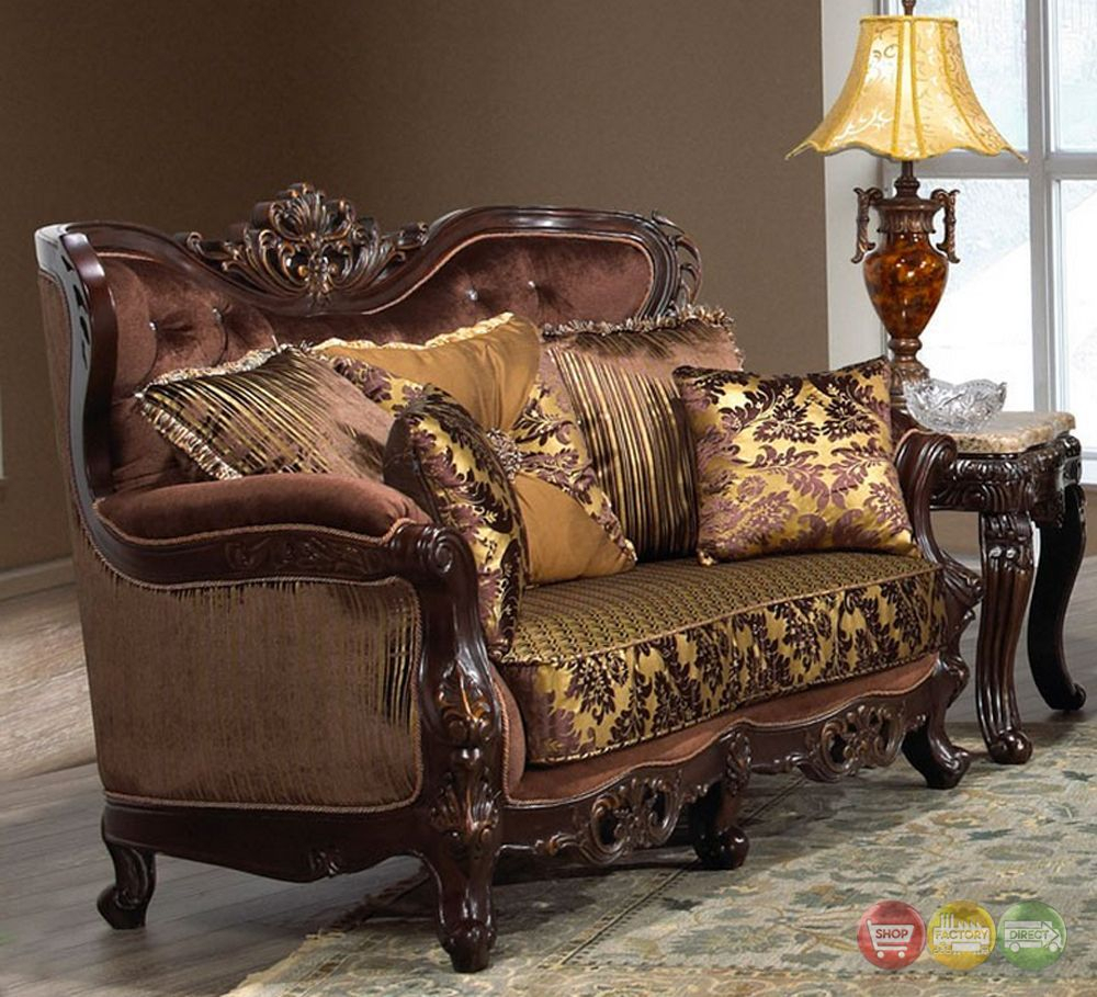 Opulent Traditional Luxury Formal Sofa Set With Fancy Sofas (View 7 of 15)