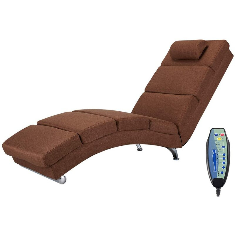 Orren Ellis Power Reclining Heated Full Body Massage Chair Intended For Navigator Power Reclining Sofas (View 11 of 15)