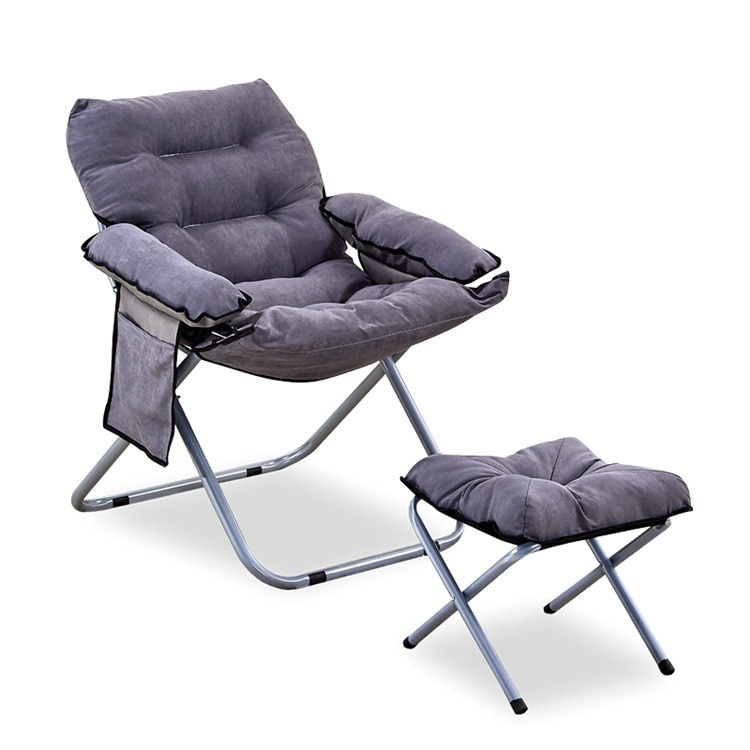 Outdoor Folding Lazy Sofa Bed Chair W/Armrests And Regarding Folding Sofa Chairs (View 8 of 15)