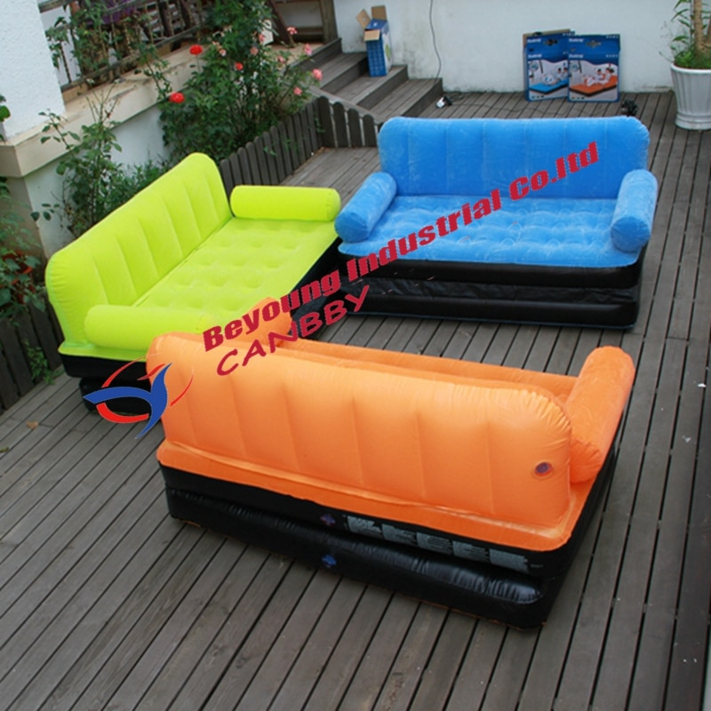 Outdoor Lazy Inflatable Couch Air Sleeping Sofa Lounger With Regard To Inflatable Sofas And Chairs (View 14 of 15)