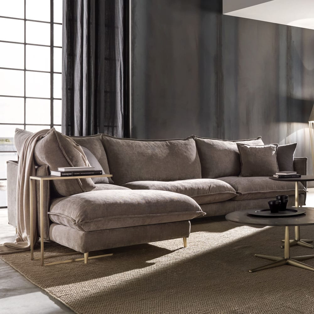 Oversized Contemporary Italian Faux Nubuck Leather Modular For Leather Corner Sofas (View 9 of 15)
