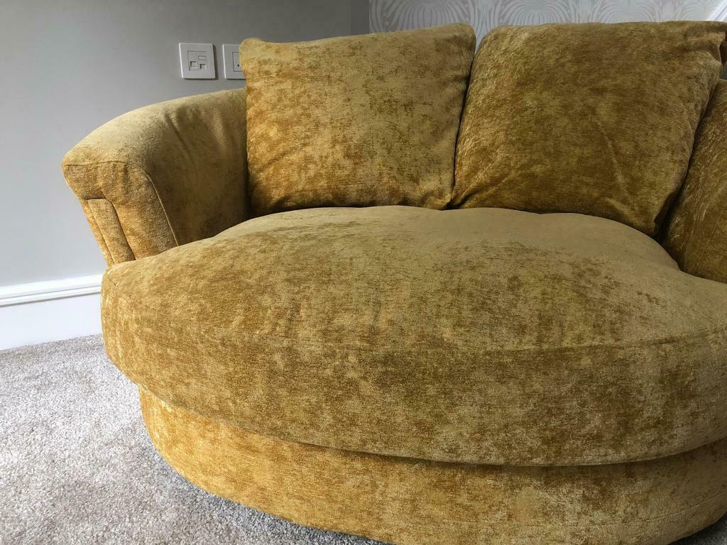 Oversized Cuddler Swivel Chair | In Walsall, West Midlands Throughout Cuddler Swivel Sofa Chairs (View 7 of 15)