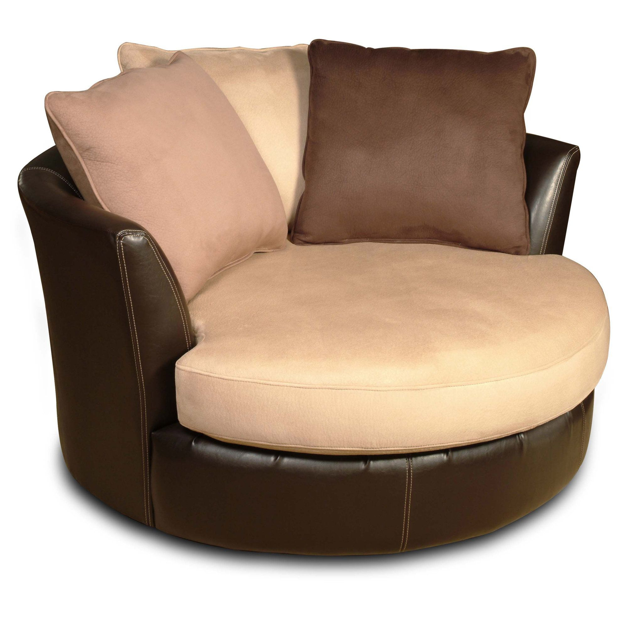 Oversized Round Swivel Barrel Chair | Chair Design For Round Swivel Sofa Chairs (View 4 of 15)