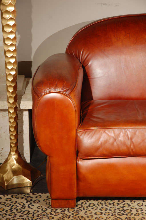 Overstuffed And Comfortable Leather Sofa At 1Stdibs For Overstuffed Sofas And Chairs (View 12 of 15)
