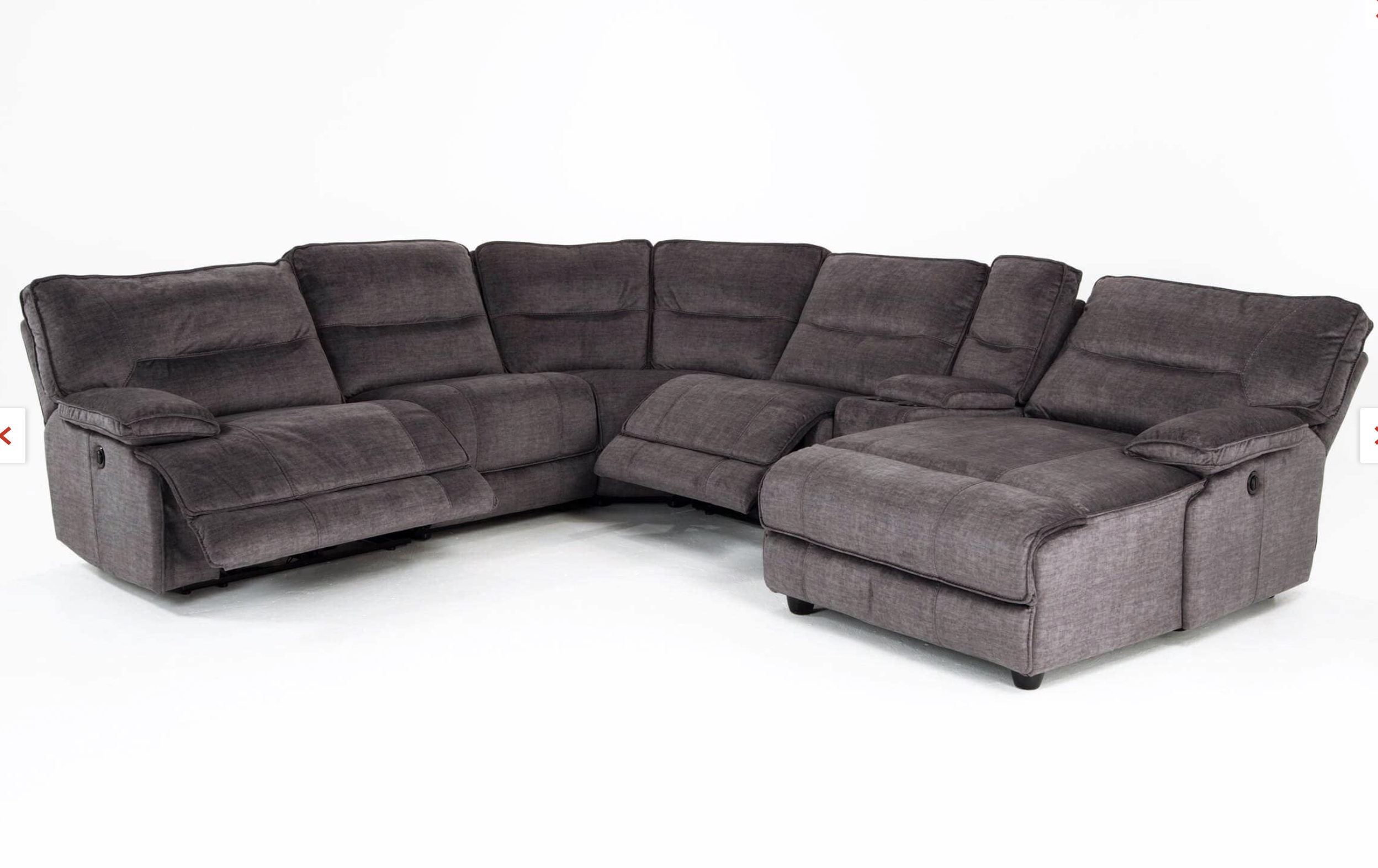 Pacifica Gray 6 Piece Power Reclining Left Arm Facing Pertaining To Pacifica Gray Power Reclining Sofas (View 5 of 15)