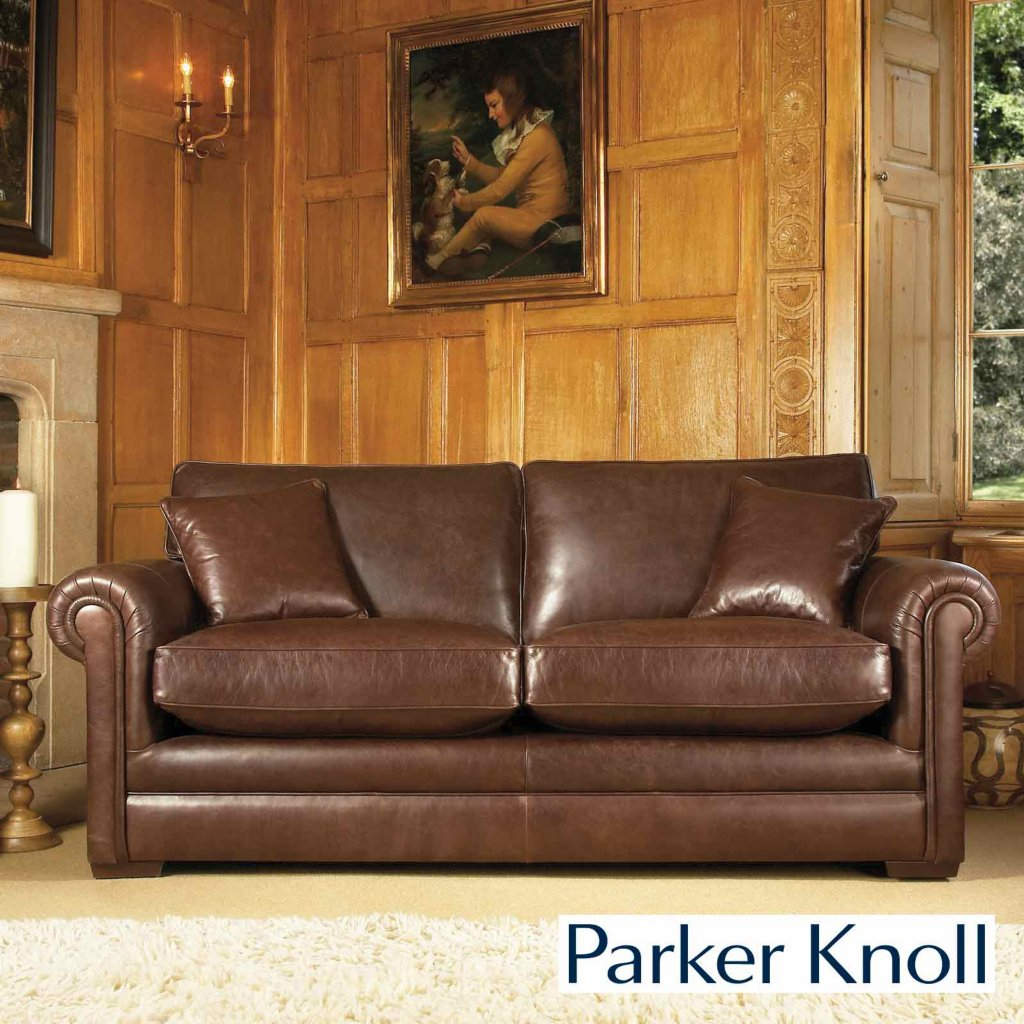 Parker Knoll Canterbury Large Two Seater Sofa Regarding Canterbury Leather Sofas (View 12 of 12)