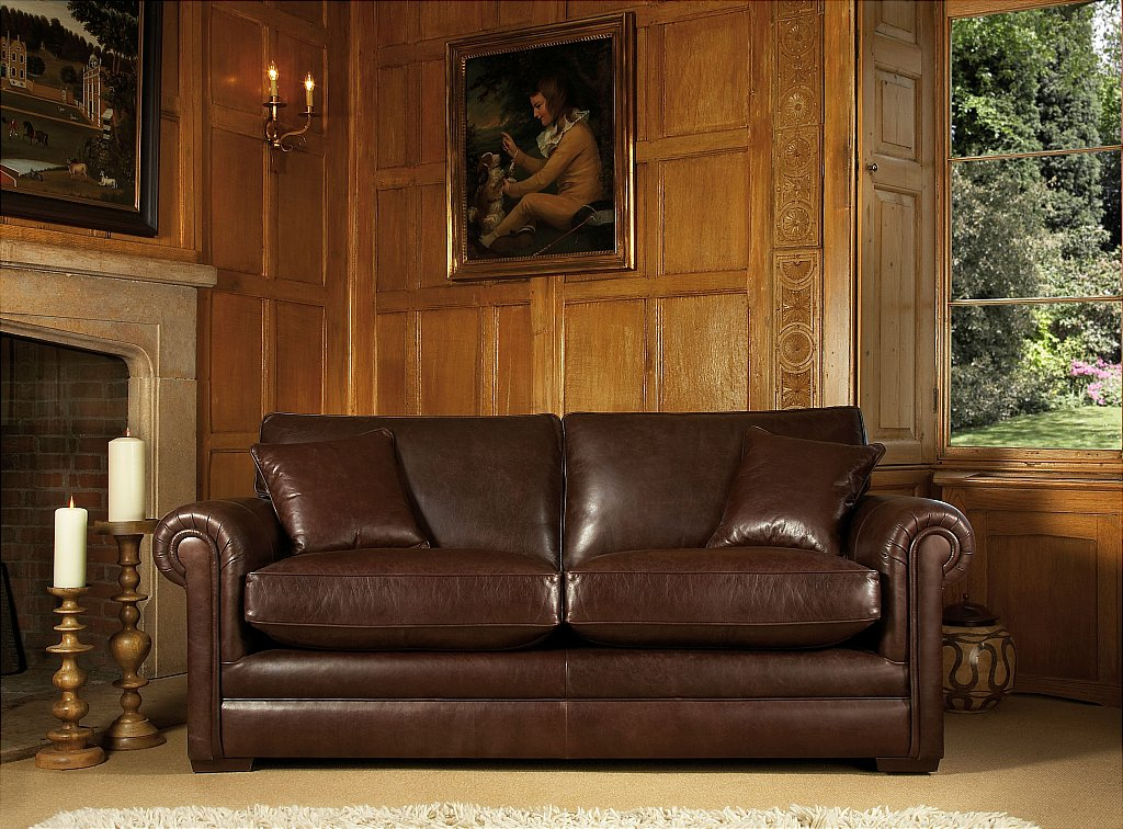 Parker Knoll Canterbury Sofa In Smokey Leather With Regard To Canterbury Leather Sofas (View 7 of 12)