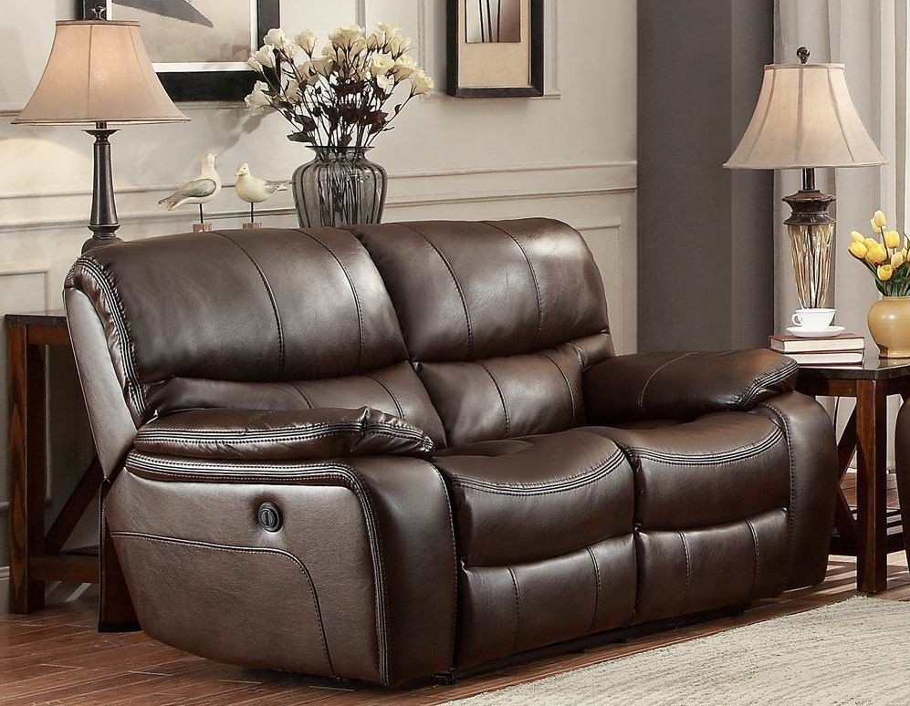 Pecos Brown Power Double Reclining Loveseat From Throughout Expedition Brown Power Reclining Sofas (View 6 of 15)