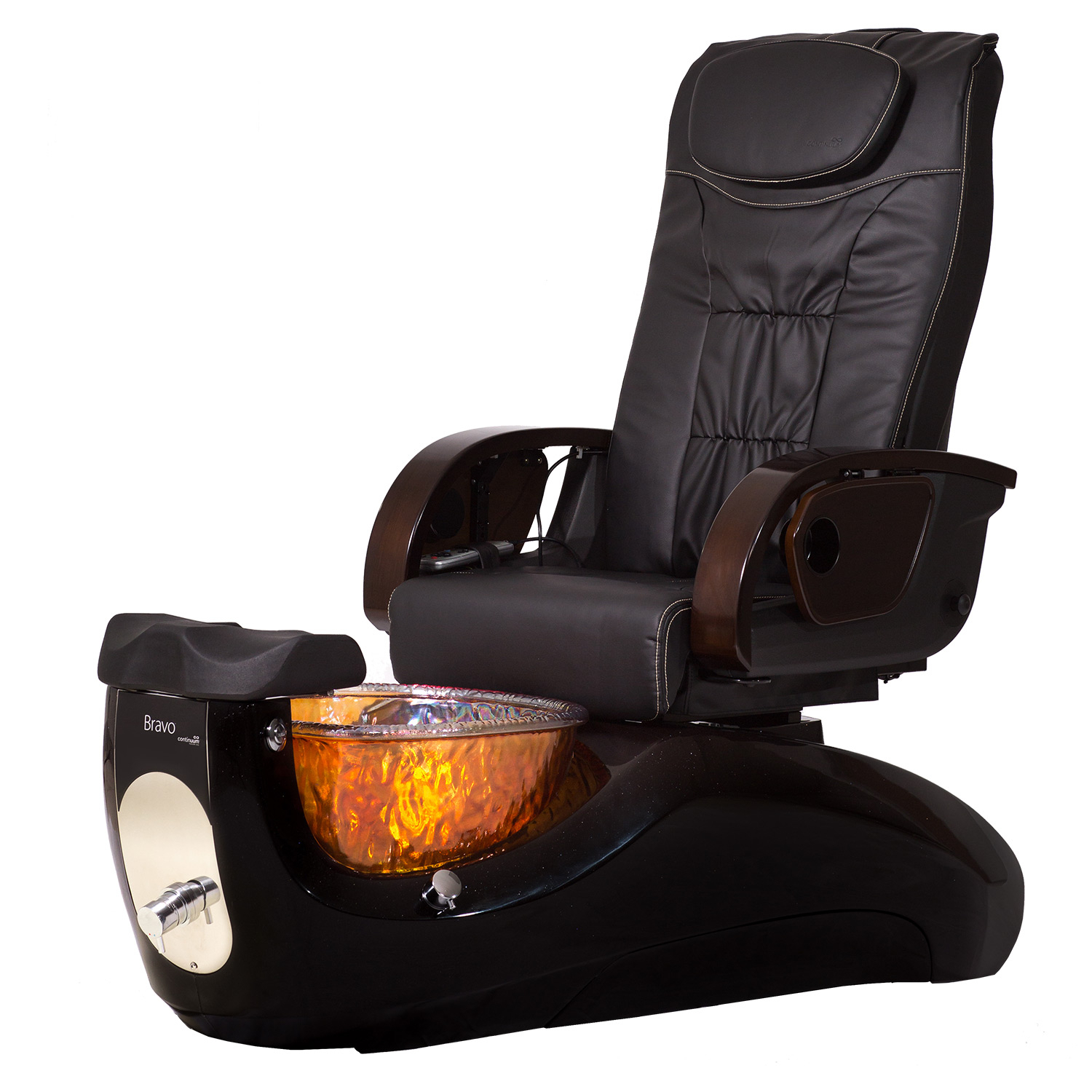 Pedicure Spa Chair Bravo Le Glass Basin Bowl With Massage Within Sofa Pedicure Chairs (View 5 of 15)