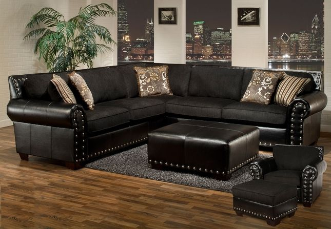 Pin On Home For 2Pc Polyfiber Sectional Sofas With Nailhead Trims Gray (View 14 of 15)