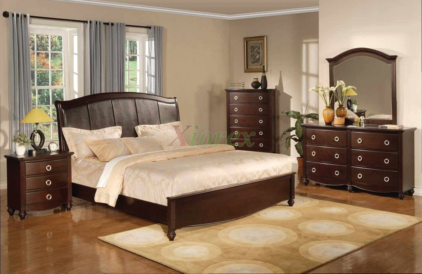 Platform Bedroom Furniture Set With Leather Headboard 133 With Bedroom Sofas And Chairs (View 11 of 15)