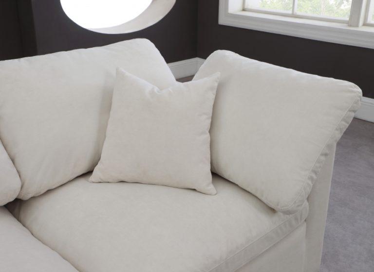 Plush Velvet Standard Cloud Modular Down Filled Regarding Overstuffed Sofas And Chairs (View 11 of 15)