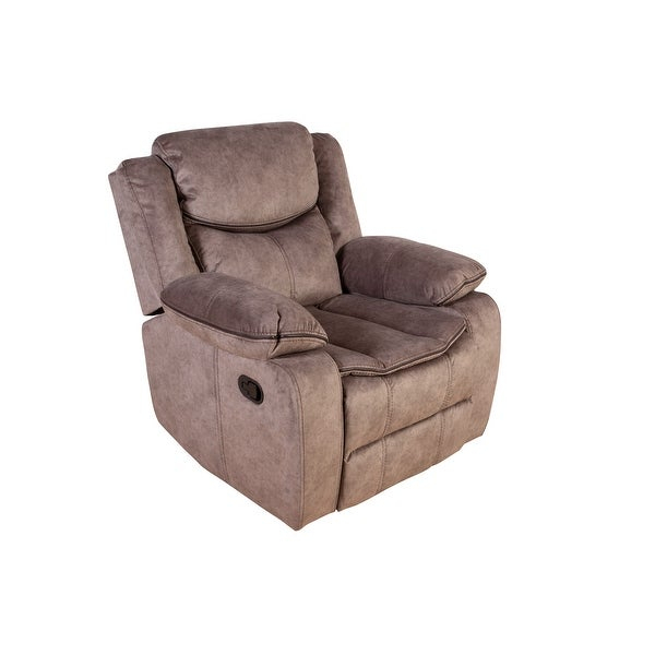Porter Designs Logan Contemporary Microfiber Glider Pertaining To Colby Manual Reclining Sofas (View 6 of 15)