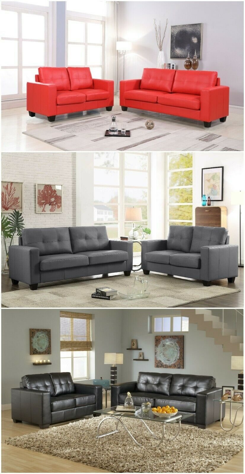 Pu Leather Living Room Sets – Dlivingrooms Pertaining To Navigator Manual Reclining Sofas (View 13 of 13)