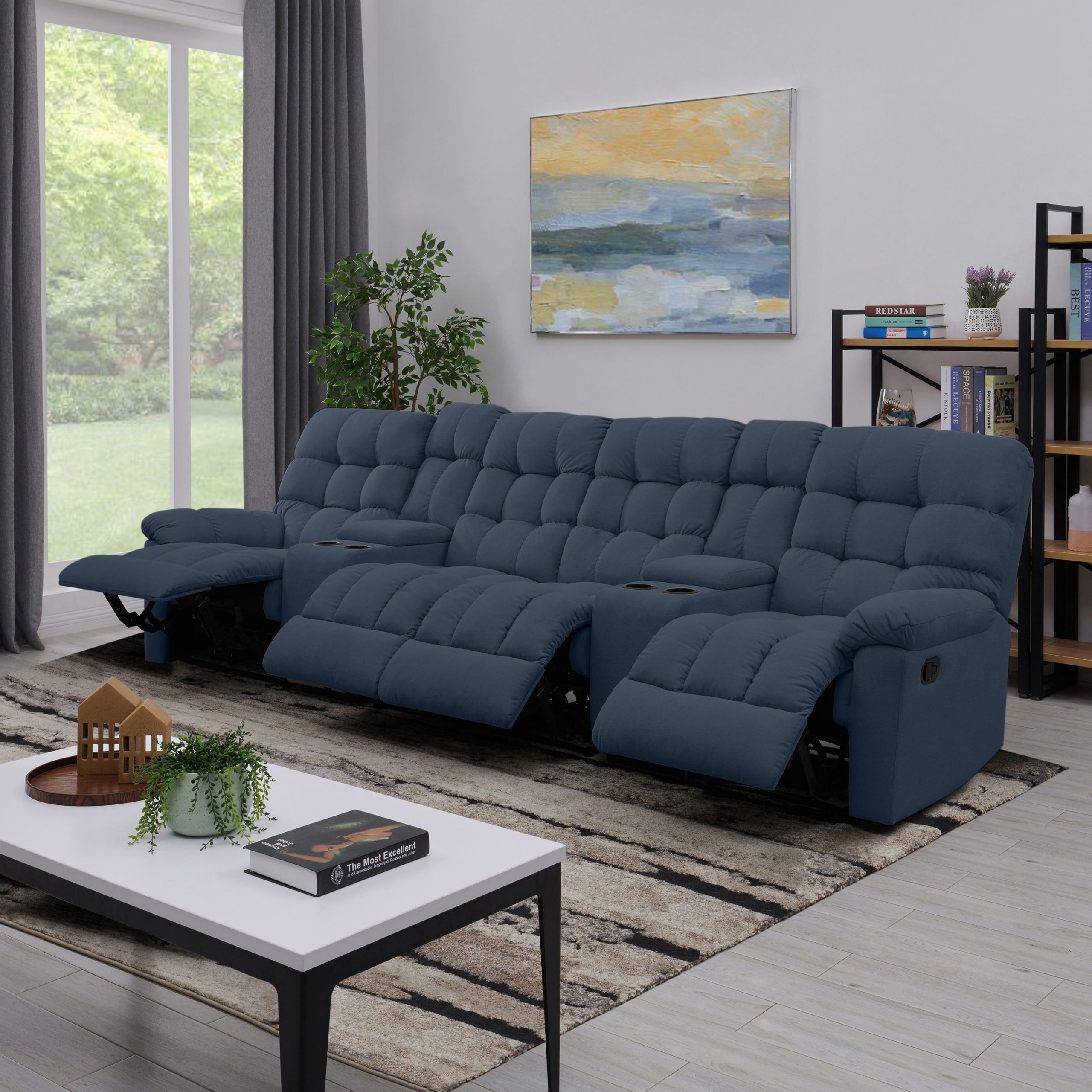 Recliner Sofa With Console Prolounger 3 Seat Recliner Sofa In Lannister Reclining Sofas (View 5 of 7)