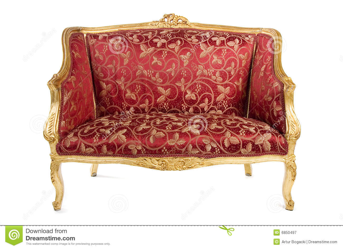 Red Antique Sofa Royalty Free Stock Photography – Image In Old Fashioned Sofas (View 5 of 15)