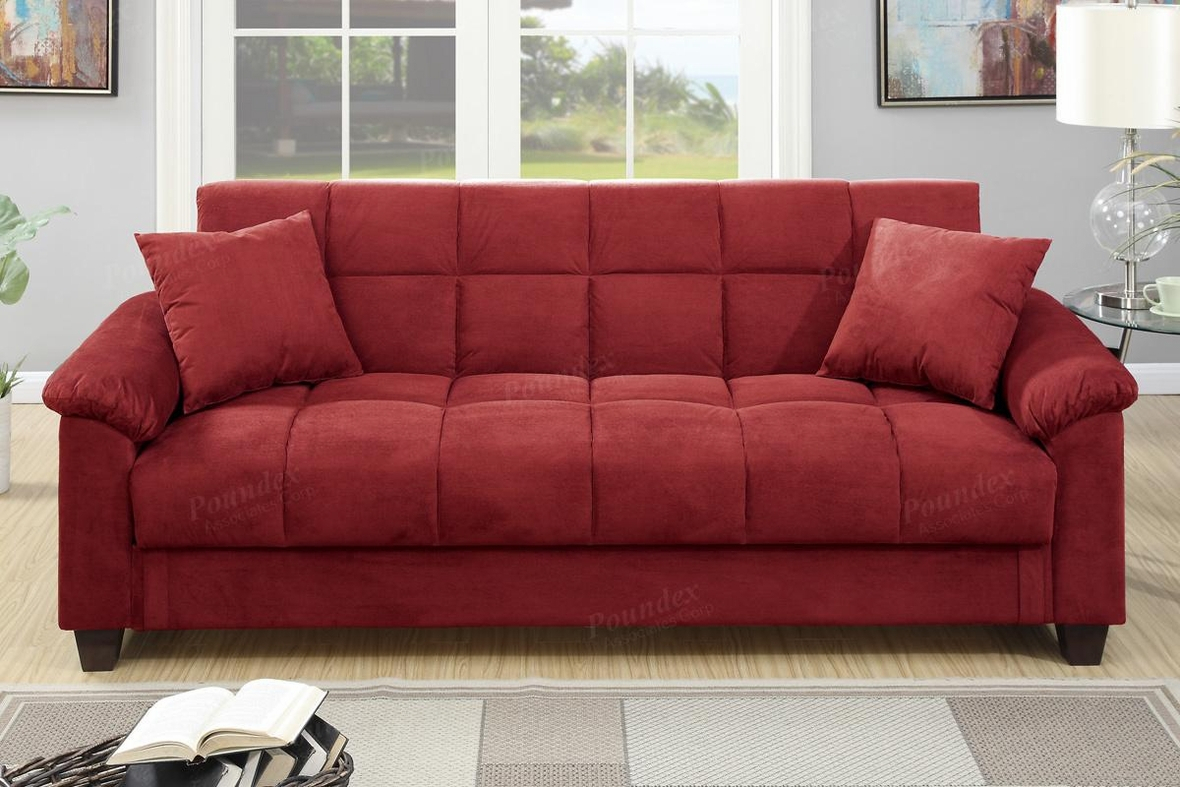 Red Fabric Sofa Bed – Steal A Sofa Furniture Outlet Los With Regard To Red Sofa Chairs (View 11 of 15)