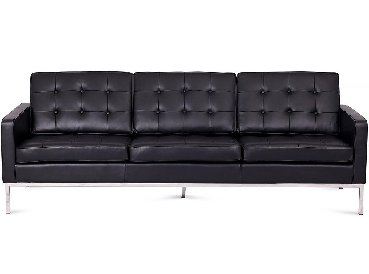 Replica Florence Knoll 1+2+3 Sofa Range *Italian Leather For Florence Knoll Living Room Sofas (View 7 of 15)