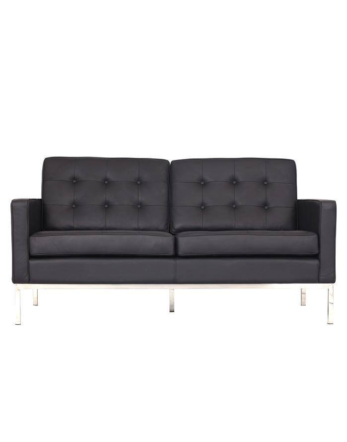 Replica Florence Knoll 2 Seater Sofa – Black Leather [Zuca] Inside Florence Knoll Leather Sofas (View 5 of 15)